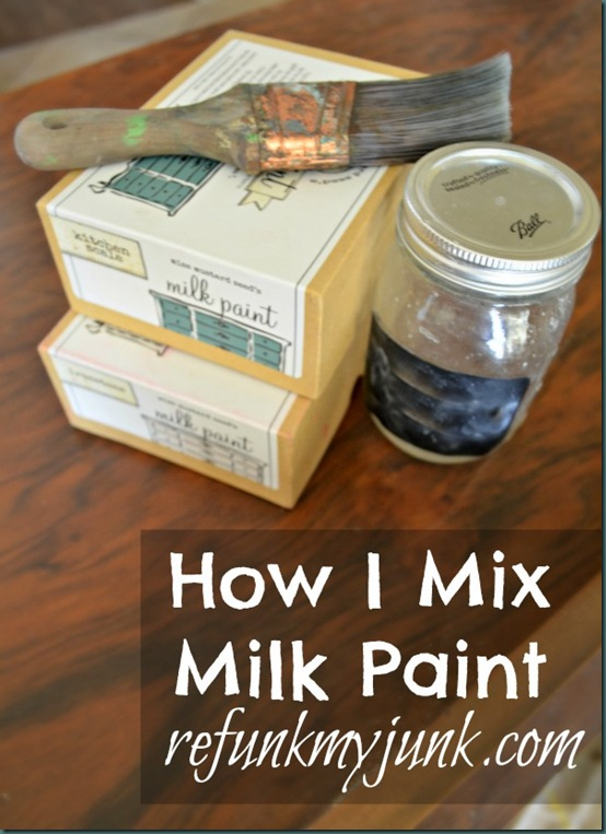 how do you make milk paint